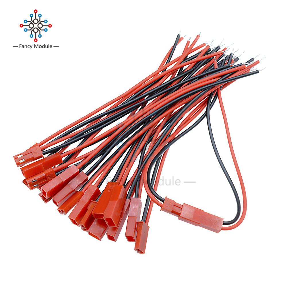 10 Pairs 100mm 10cm JST Male Female Connector Plug Cable For DIY RC BEC Battery Helicopter FPV Drone Quadcopter In Stock