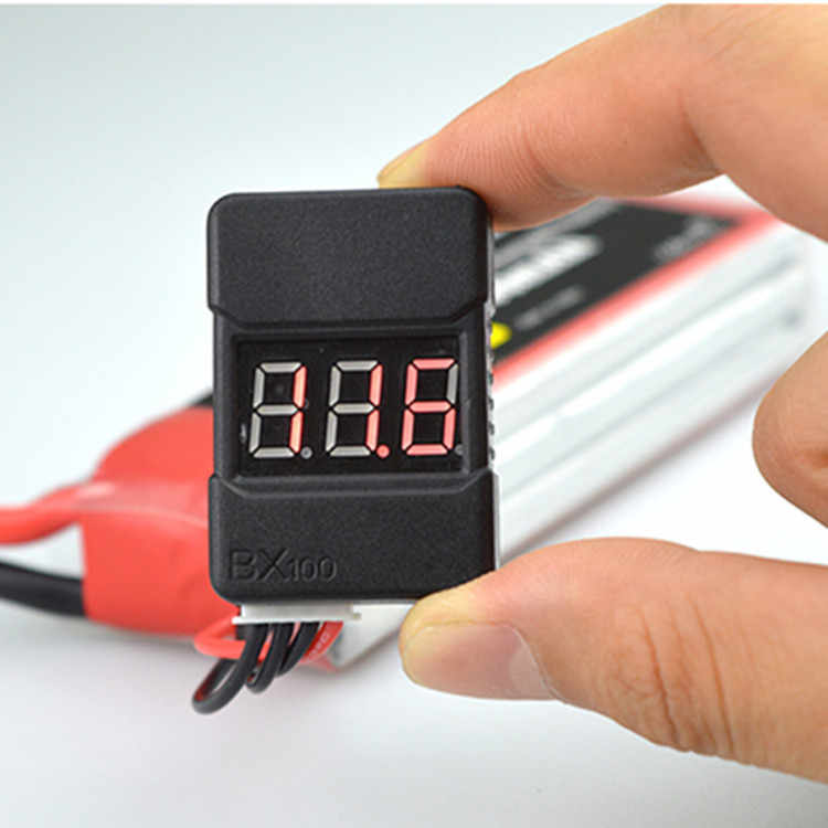 2 pcs/1 pcs BX100 1-8S Lipo Battery Voltage Tester/Low Voltage Buzzer Alarm/ batterij Voltage Checker met Dual Speakers