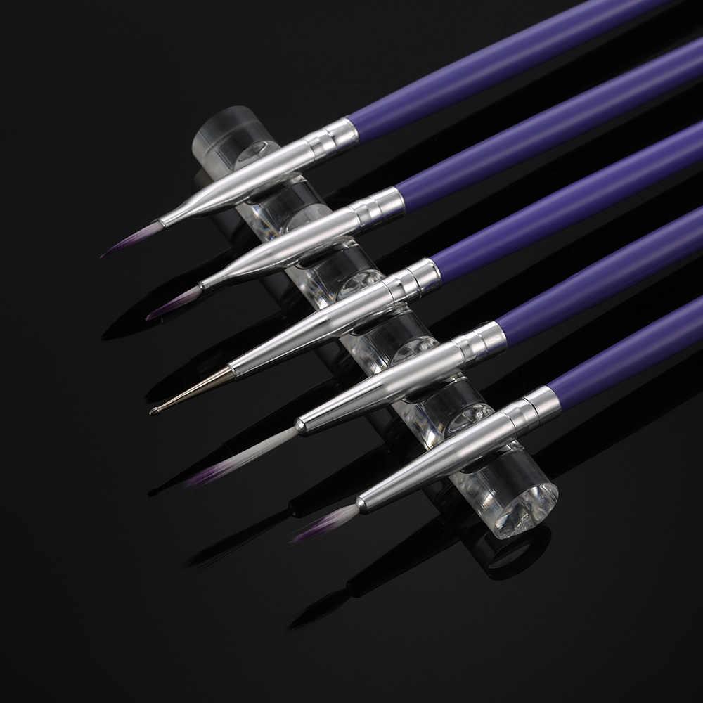 Do paznokci pędzelek artystyczny długopis uchwyt na narzędzia stojak przezroczysty akryl żel UV stojak na szczotki uchwyt na uchwyt siatkowy 5 co najwyżej 5 sztuk długopisów do dekoracji paznokci