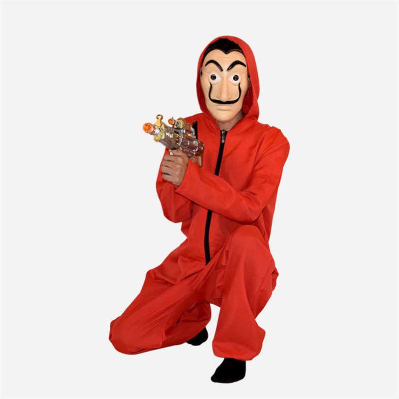 סלבדור דאלי La Casa De Papel תלבושות & פנים מסכת קוספליי את בית של נייר תפקיד מסיבת משחק למבוגרים קוספליי כסף שוד S-XXL