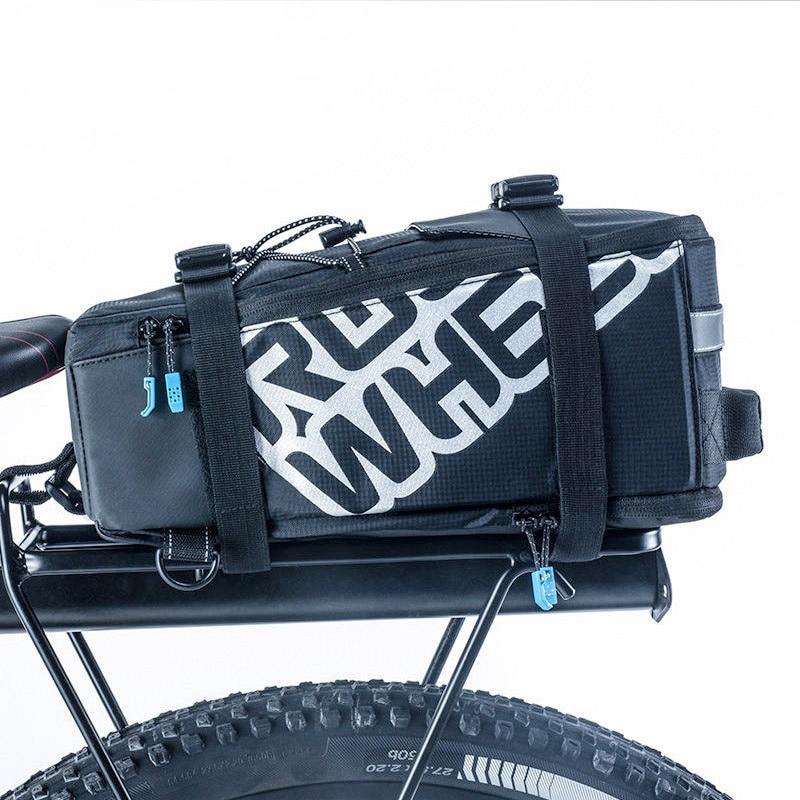Bicycle Bike Cycle Rear Rack Bag Cargo Carrier Saddle Seat Bag 13L Black Blue