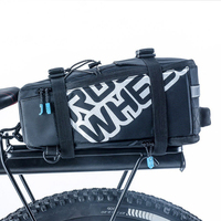Waterproof 5L Bicycle Bag Carrier Rack Trunk Bike Luggage Back Seat Pannier Bag Outdoor Shoulder Strip Cycling Storage Handbag