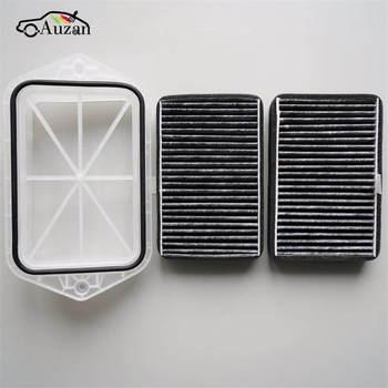 Filtro de cabina de 2 agujeros para Vw Sagitar CC Passat Magotan Golf Tiguan Touran/audi/Skoda Octavia filtro de aire externo FT100