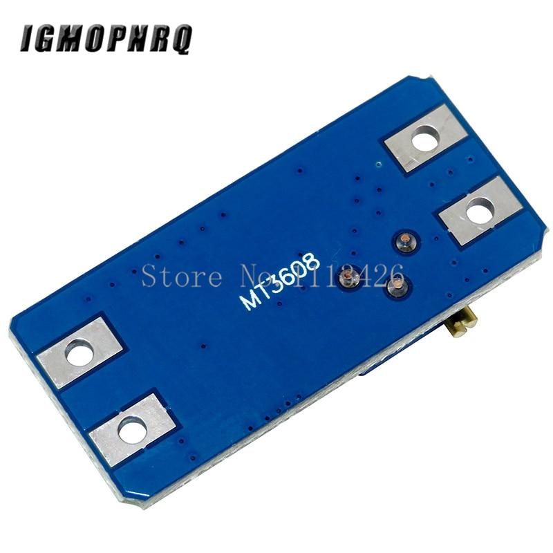 1PCS MT3608 DC-DC Einstellbar Boost Modul 2A Boost Platte Schritt Bis Modul mit MICRO USB 2 V-24 V zu 5V 9V 12V 28V