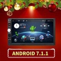 1024X600 7 INCH Universal 2 Din Car DVD Radio Player GPS Navigation Android 6 0 Quad