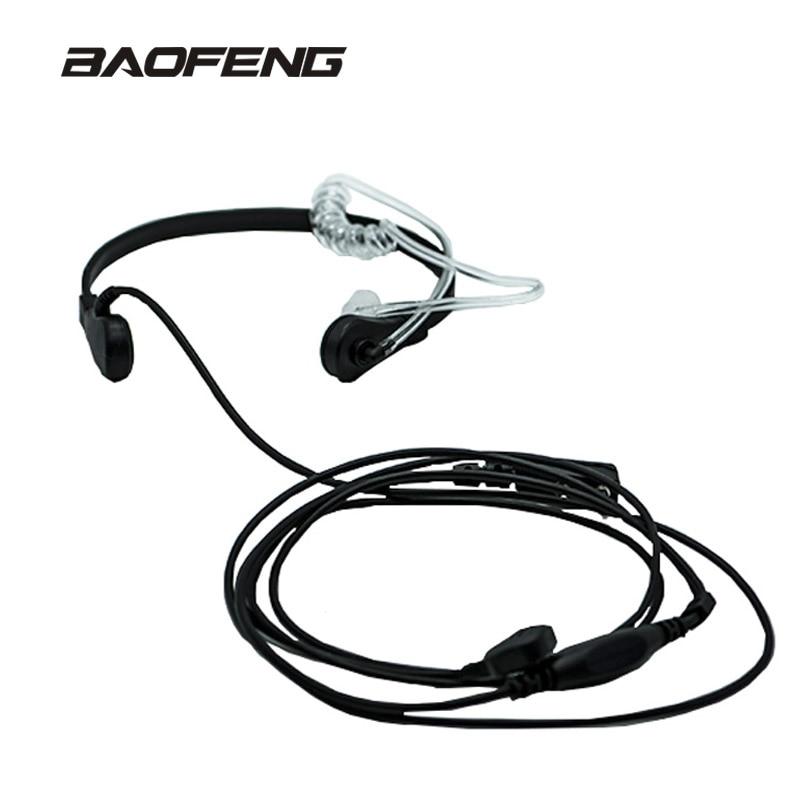 New Brand Throat Microphone Throat Vibration Headset For Two Way Radio BaoFeng UV-5R UV-82 UV-B6 BF-888S Walkie Talkie Earphone