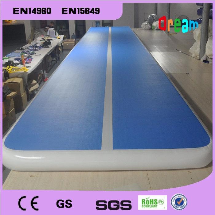 Livraison Gratuite 7x1x0.2 m Bleu Gonflable Gymnastique Airtrack de Plancher D'air De Culbutage Piste Pour Enfants Gratuit pompe