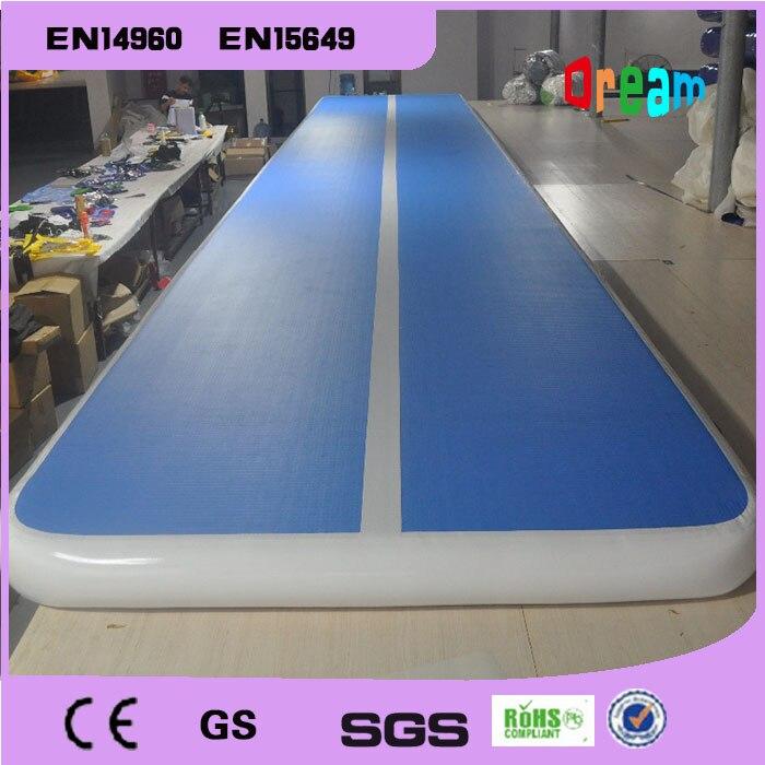 Livraison gratuite 7x1x0.2 m bleu gonflable gymnastique Airtrack plancher Tumbling Air piste pour enfants gratuit une pompe