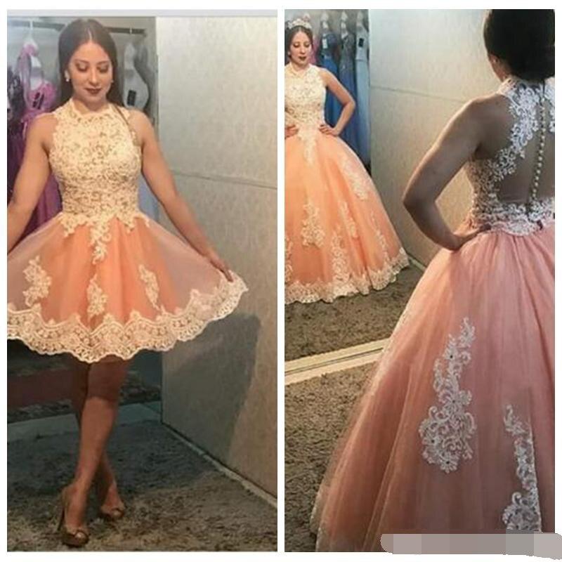 Deux pièces vestidos doux 16 Quinceanera robes robe de bal robe de bal sans manches dentelle Applique Tulle grande taille robes de bal
