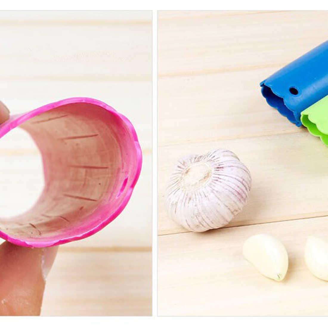 2018 Nova Silicone Alho Peeler Cozinha Utilitário Dispositivo Peeling de Alho Descascador de Tubo