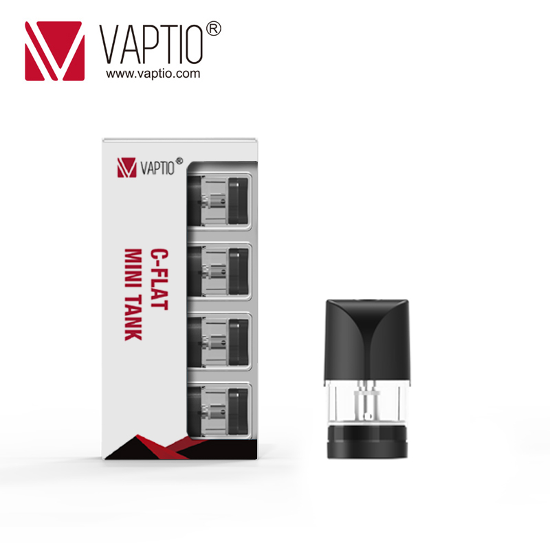 Electronic Cigarette Vaptio C-Flat MINI Pod cartridges 4Pcs Atomizer 1.3ml Capacity 1.5ohm built-in Coils head Fit C-FLAT MINI
