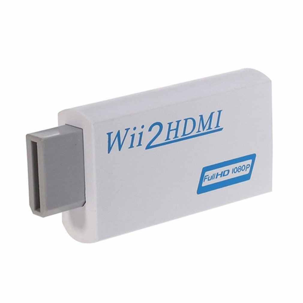 For Wii to HDMI 2 HDMI Full HD FHD 1080P Converter Adapter 3.5mm Audio Output TV