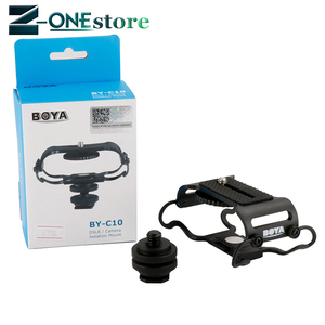 Image 4 - BOYA BY C10 Microphone Shock mount for Zoom H4n/H5/H6 for Sony Tascam DR 40 DR 05 Recorders Microfone Shockmount Olympus Tascam