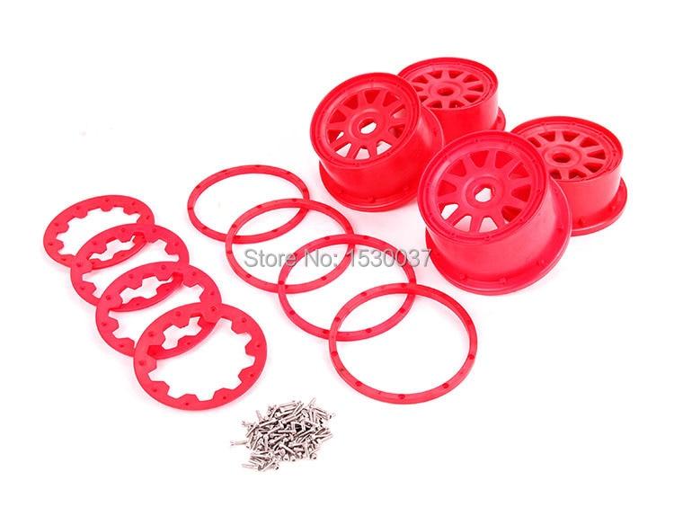 nylon super star Wheel Hub set with beadlock ring and screws for 1/5 rovan hpi kingmotor baja 5b rc car parts