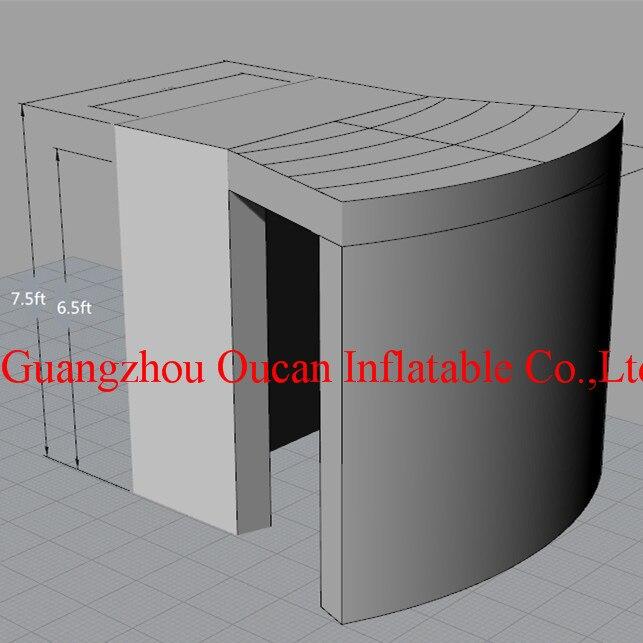 Cabine gonflable blanche de téléphone de tissu d'oxford, cabine gonflable de photo avec la livraison gratuite