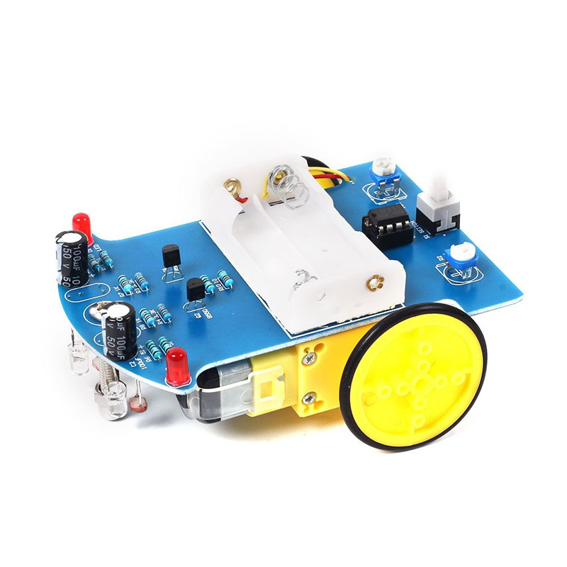 10pcs D2 1 DIY Kit Intelligent Tracking Line Smart Car Kit Suite TT Motor Electronic Production