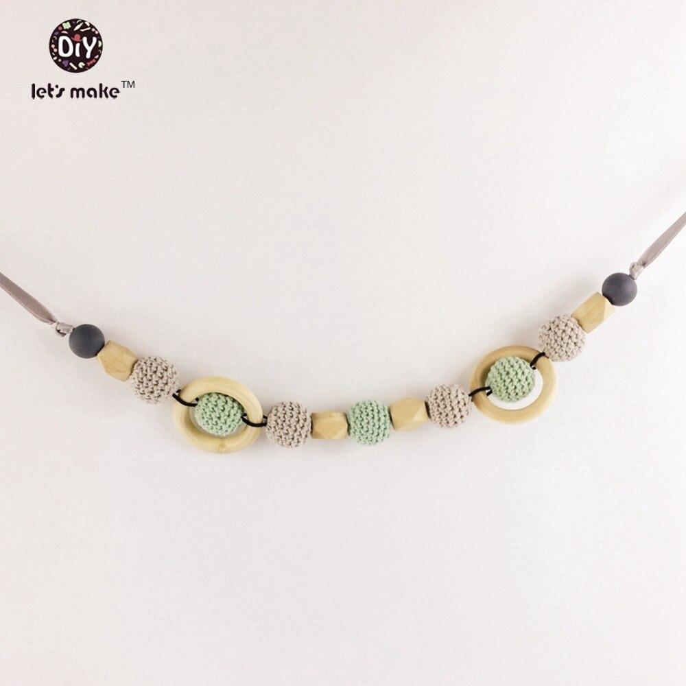 Lets make Woman Fashion stroller mobile crochet Beads baby mobile pram chain Crochet Beads teething stroller chain