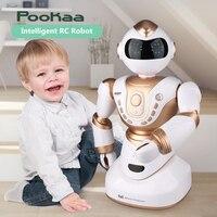 2018 большой умный RC робот 2850 2,4 г 51 см голова рука светодио дный поворот LED выражение голосовой диалог умный Спорт rc робот игрушка с огнями