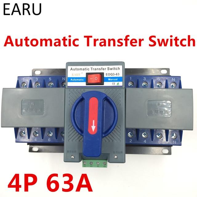 4 P 63A 380 V SCHUTZSCHALTER Typ Dual Power Automatic Transfer ...