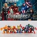 8 pçs/set Marvel The Avengers Mini homem de ferro homem aranha capitão américa Hulk PVC Action Figure Collectible modelo Toy boneca KT465