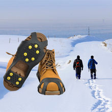 83a3660428b3 New 10-Stud Universal Ice No Slip Snow Shoe Spikes Grips Cleats Crampons  Winter Climbing No Slip Shoes Cover S M L XL