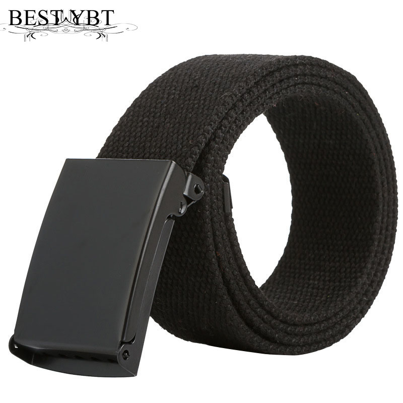 Best YBT Men Belt Fashion Unisex Men Women Belts Army Tactical Waist Belt Jeans Male Casual Luxury Canvas cowboy Waistband