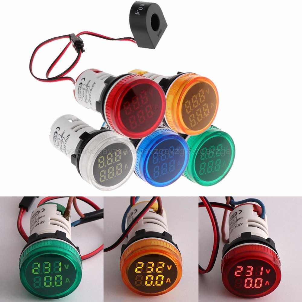 3-in-1 Tester Meter 2 Voltmeter Amperemeter Spannung Frequenz Kunststoff