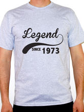 Wholesale Price T Shirt Ideas  MenS Short Sleeve Zomer O-Neck Legend Since 1973 Birth Year Birthday Shirts