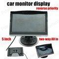 Супер 5 Дюймов Поддерживает Камеры заднего вида обратный приоритет двухсторонней AV в монитор Автомобиля TFT ЖК-Экран HD Цифровой Цвет Автомобиля монитор