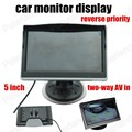 Super 5 Polegada Suporta Câmera traseira reverter prioridade two-way AV no monitor Do Carro Cor Do Carro TFT LCD Digital HD Tela Monitor de