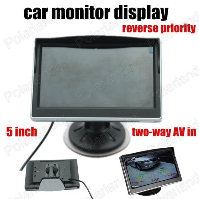 Super 5 Polegada Suporta Câmera traseira reverter prioridade two-way AV no monitor Do Carro Cor Do Carro TFT LCD Digital HD Tela Monitor de