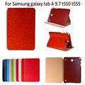 100% Original KUKA Retro Leather Case for funda samsung galaxy tab a 9.7 t550 T555 smart case Stand Design luxury Utrathin cover