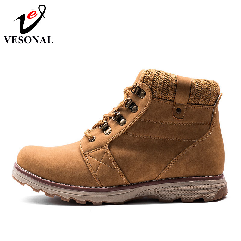 16e8f9f8304c VESONAL Hot Sale 2017 Autumn Winter Ankle Work Casual Male Boots For Men  Shoes Brand Quality Designer Fashion Rubber Man Boot-in Work   Safety Boots  from ...