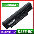 6600mAh laptop battery for ACER Aspire one 722 AO532h AO722 AOD255 D255 D255E happy happy2 for GATEWAY LT23 LT25 LT27 LT28 LT40