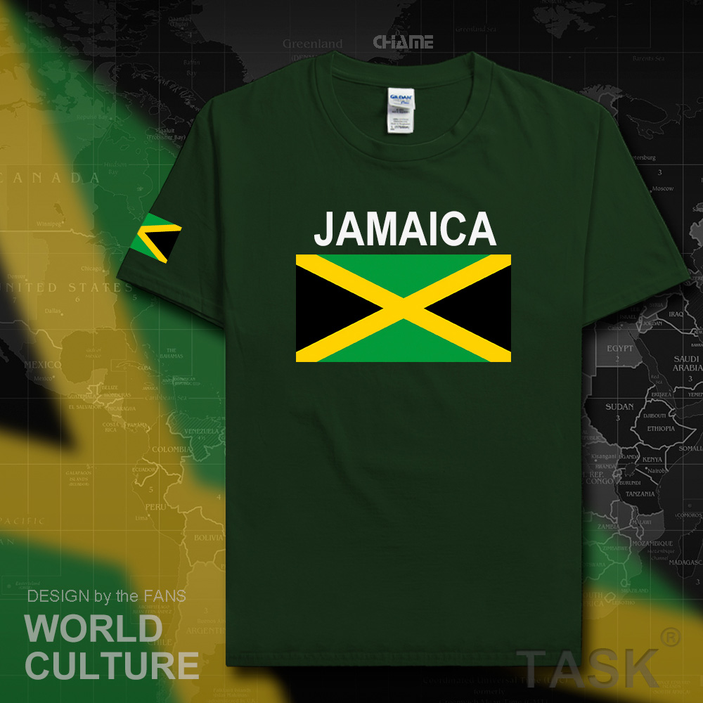 Jamaica men   t     shirt   fashion 2017 jerseys nation team tshirt 100% cotton   t  -  shirt   gyms clothing tees country sporting JAM Jamaican