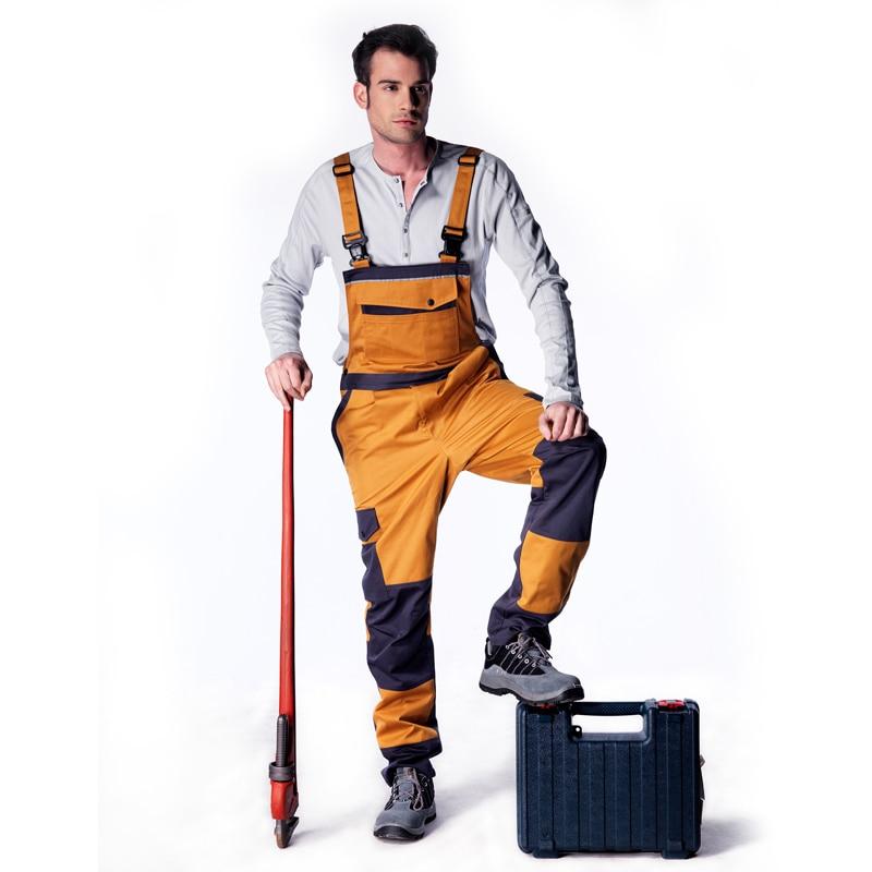 Bib overall men women work coveralls factory uniform fashion casual strap jumpsuit pants repairman sleeveless working