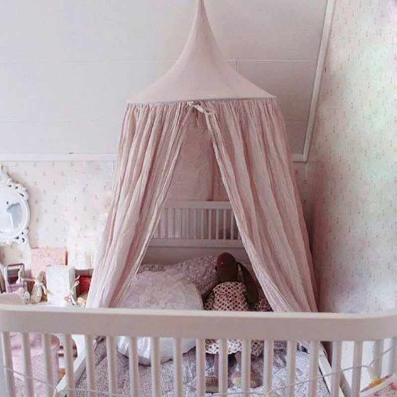 Baby Canopy Round Mosquito Net Boys Girls Princess Bed Canopy Cotton Bed Valance Pest control Reject Net Kids Room Decoration