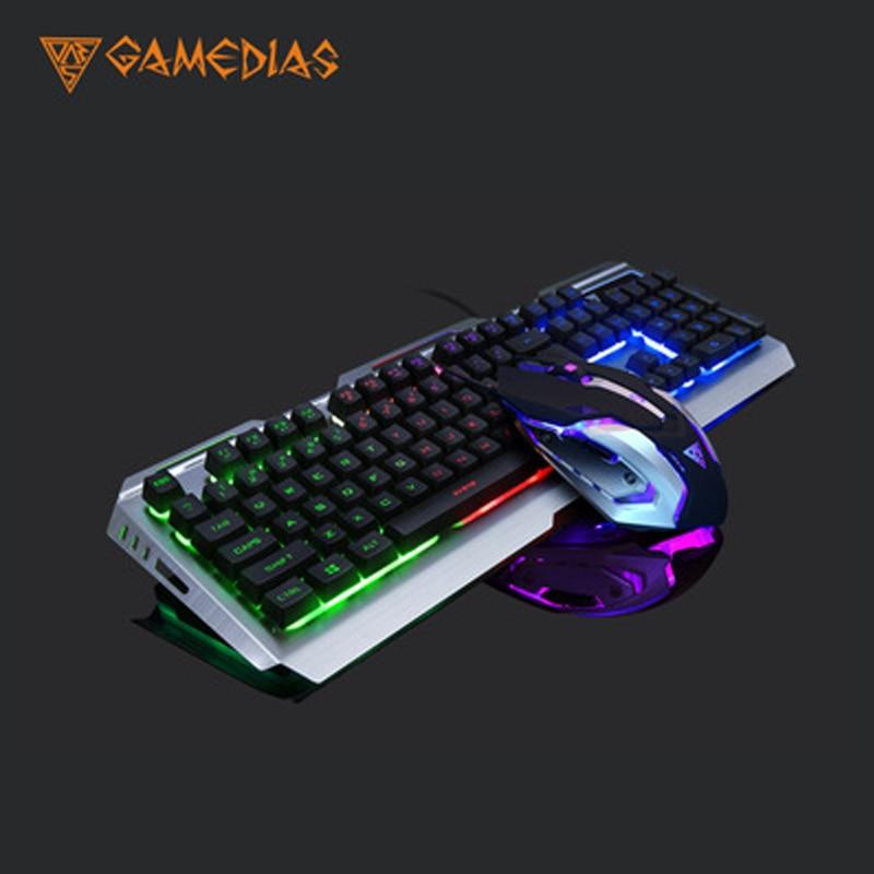 Ensemble souris et clavier de jeu V1 rétro-éclairage filaire clavier de jeu USB 3200 DPI souris de jeu souris d'ordinateur portable de jeu