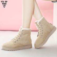 VTOTA Classic Women Winter Boots Fur Snow Botas Mujer Shoes Soft Ankle Lady shoes Footwears Female Flats