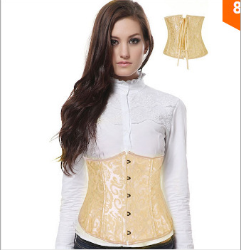Sexy Corset Top Waist Simmer Corsets Beige Gothic Corselet Underbust Bustier Plus Size S-XL Waist Tight Slim Shappers