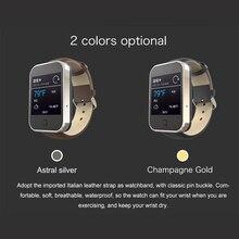 หนังแท้Android 4.3ระบบปฏิบัติการสมาร์ทนาฬิกาบลูทูธโทรศัพท์นาฬิกาสมาร์ทที่มีช่องเสียบซิม1.54นิ้วTransflectiveหน้าจอสำหรับA Ndroid