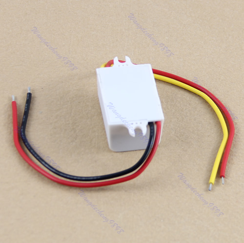 New Waterproof DC Converter 12V Step Down to 5V 3A 15W Power Supply Module -Y103