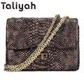 Women Messenger Bags 2016 Winter Luxury Brand Handbags Chains Serpentine Small Bag Female Shoulder Crossbody Bags For Women TA42