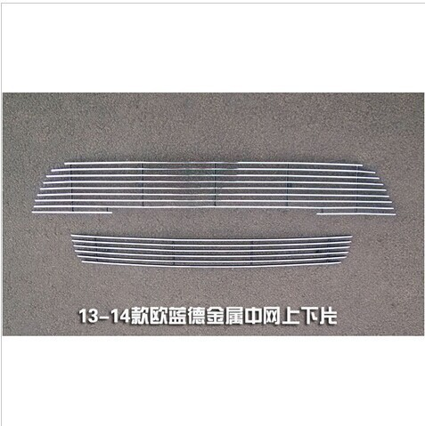 High quality stainless steel Front Grille Around Trim Racing Grills Trim For 2013 Mitsubishi Outlander Samurai Car styling chrome front bumper grille grill trim molding for mitsubishi outlander 2013 2014