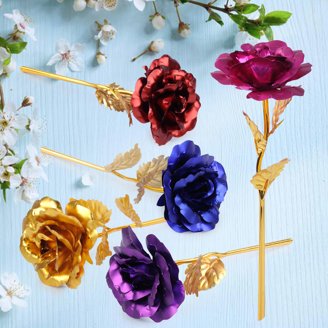 Aliexpress Com Buy Wr Romantic Rose 24k Gold Dipped: 24K Gold Foil Plated Romantic Rose Flower With Free Gift