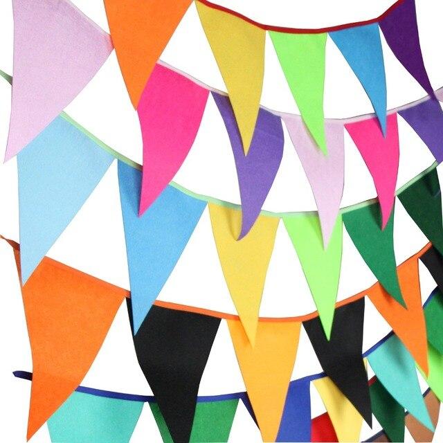 12 Bunting Banners bandeiras-2.8 m Sentiu Decoração pennant Bunting Garland  Bandeira da Festa de 4c592ed314789
