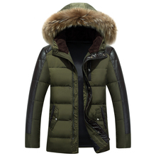 Hot new winter 2016 men's hooded down jacket thicker stitching Nagymaros collar warm coat cold comfort WZ244
