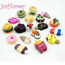 20pcs Kawaii FIMO Clay Craft Charms Miniature Cookies,Donuts,Burgers,Creams,Sandwich Cabochons DIY Pendant Home Decor Ornament все цены