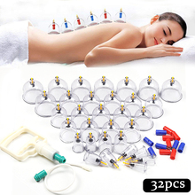 32 pieces Suction Cups jar Acupunture Vacuum Cupping Set Ventouse Anti Cellulite Massager vacuum suction therapy cupping set can цена