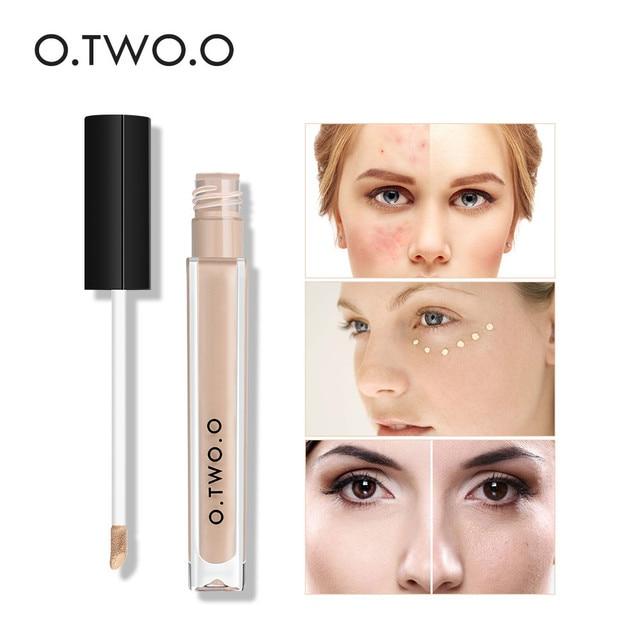 O dos O 4 colores Corrector líquido de la cubierta completa ojo oscuro círculos maquillaje Corrector impermeable cara Corrector crema Base cosmética